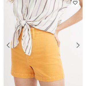 Madewell Yellow Emmett Shorts